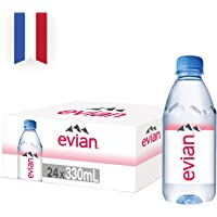 Evian Natural Mineral Water Bottles, 24 x 330 ml