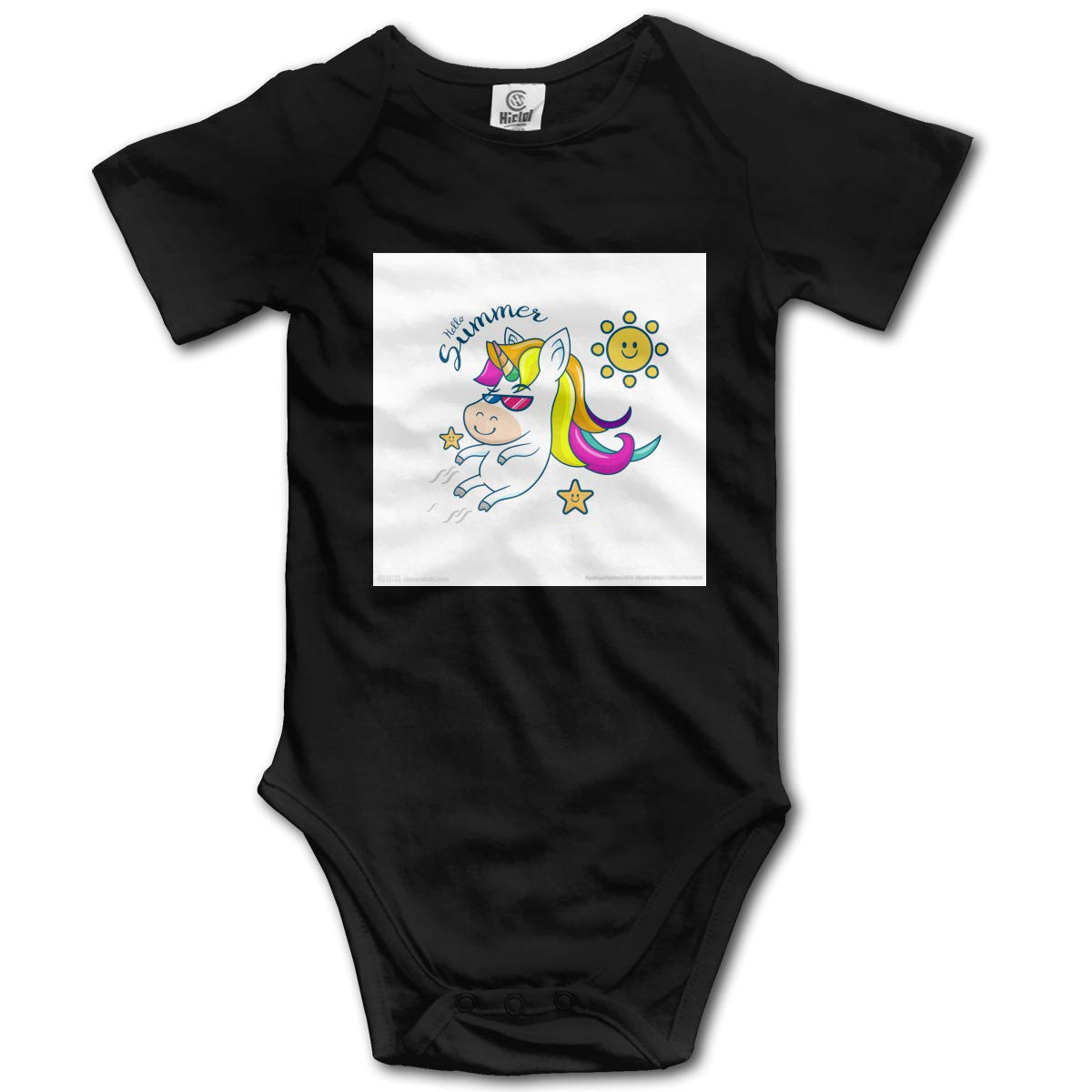 Lucky Rainbow Horse Casual Newborn Baby Short Sleeve Bodysuit Romper Infant Summer Clothing