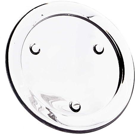 INNA-Glas Sottocandela in Vetro Betty su Piede /Ø 19,5cm Sottopiatto Rotondo//Piatto di Vetro Trasparente