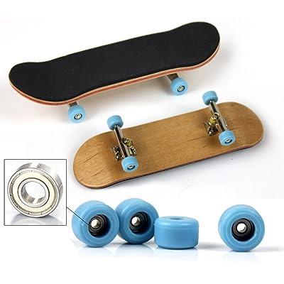 Wenasi MINI Finger Skateboard, Novelty Desktop Wooden Fingerboard Toy (Blue): Toys & Games