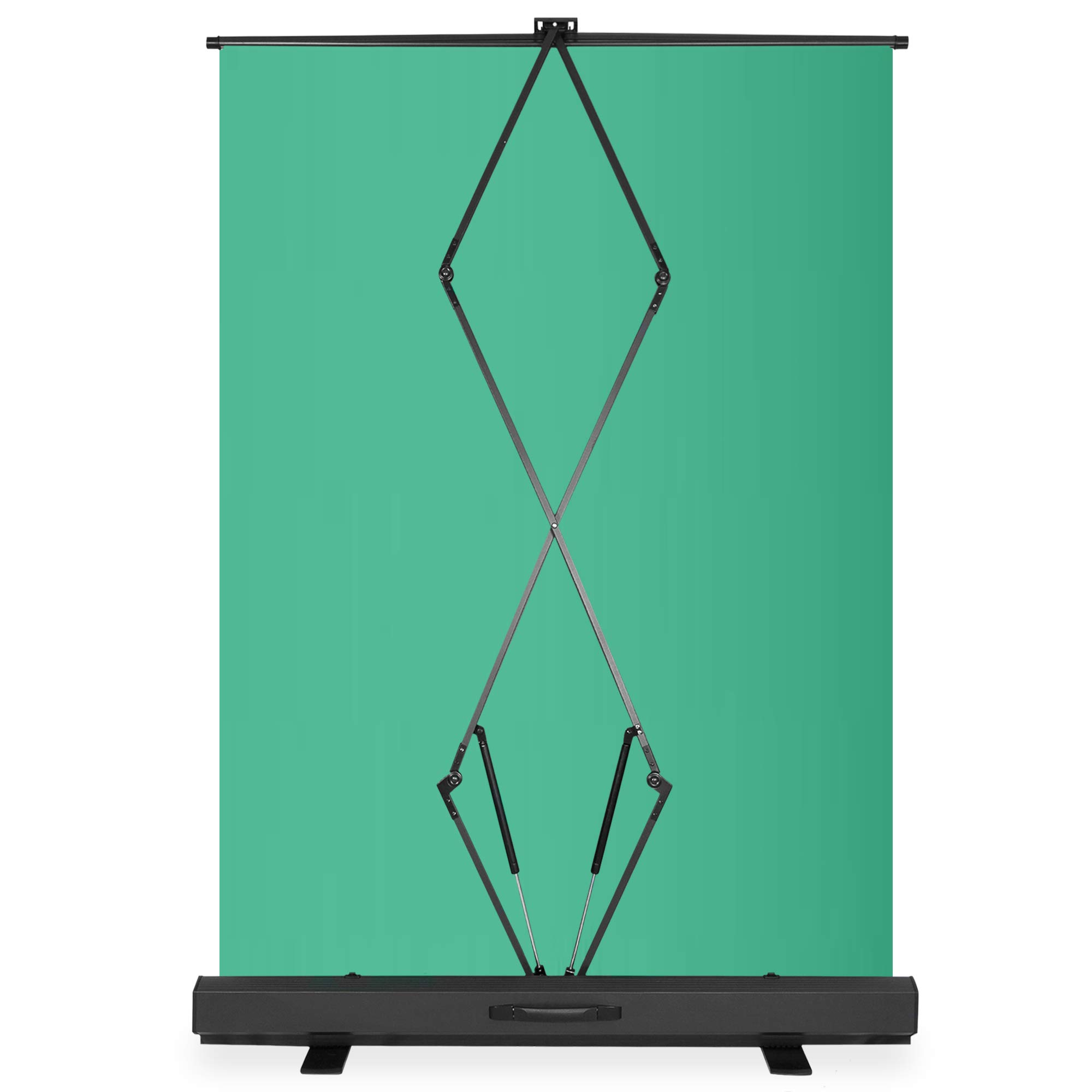 KHOMO GEAR Jumbo Size 55'' x 82'' Green Screen Collapsible Pull-Up Extra Large Streaming Portable Backdrop Setup with Auto-Locking Frame by KHOMO GEAR (Image #3)