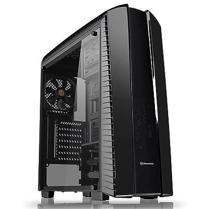 Thermaltake Versa N27 Midi-Tower Negro Carcasa de Ordenador - Caja de Ordenador (Midi-Tower, PC, SPCC, ATX,Micro-ATX,Mini-ITX, Negro, Juego)