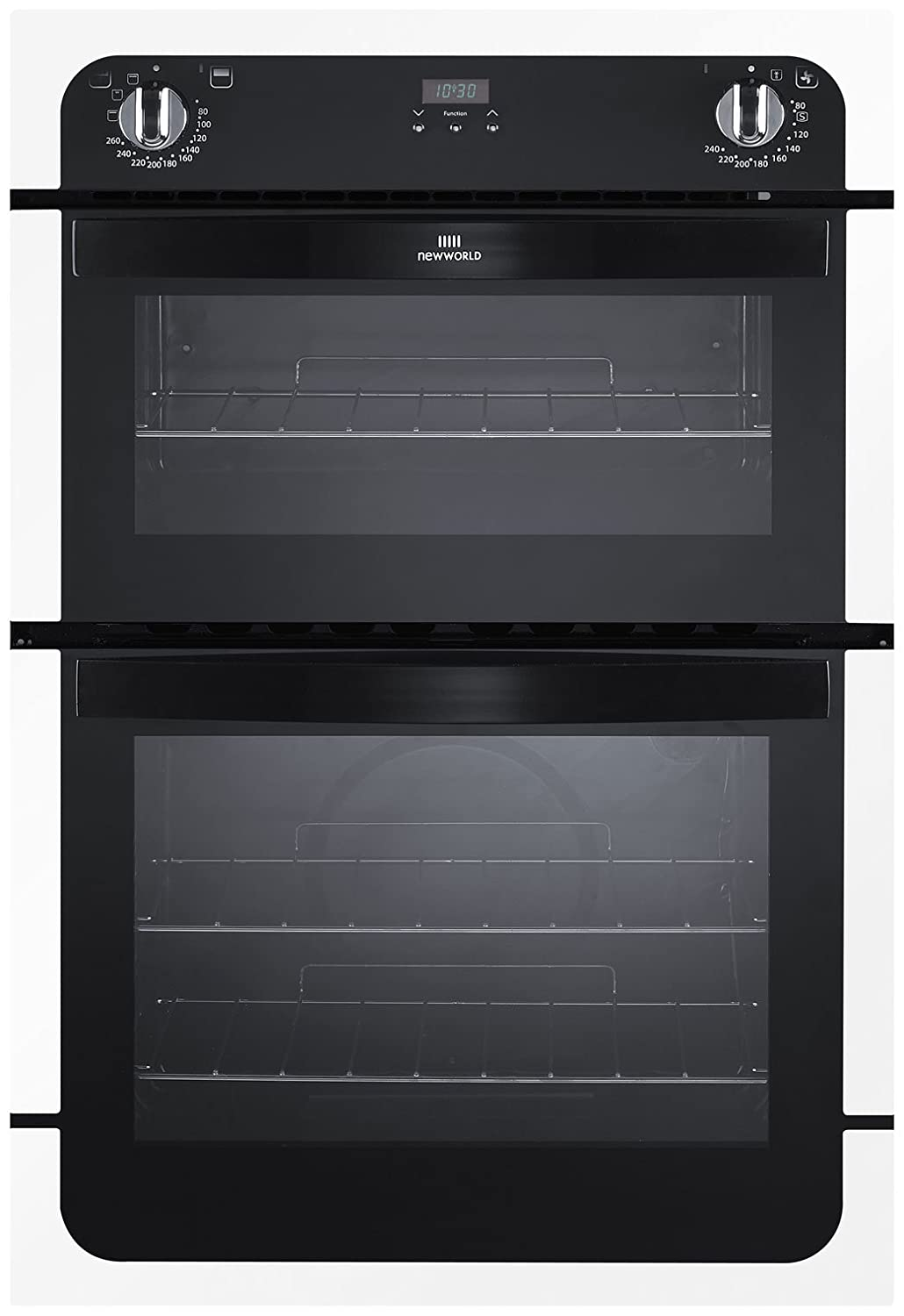 New World NW901DOPBLK 900mm Built In Double Electric Oven Black Amazoncouk Large Appliances