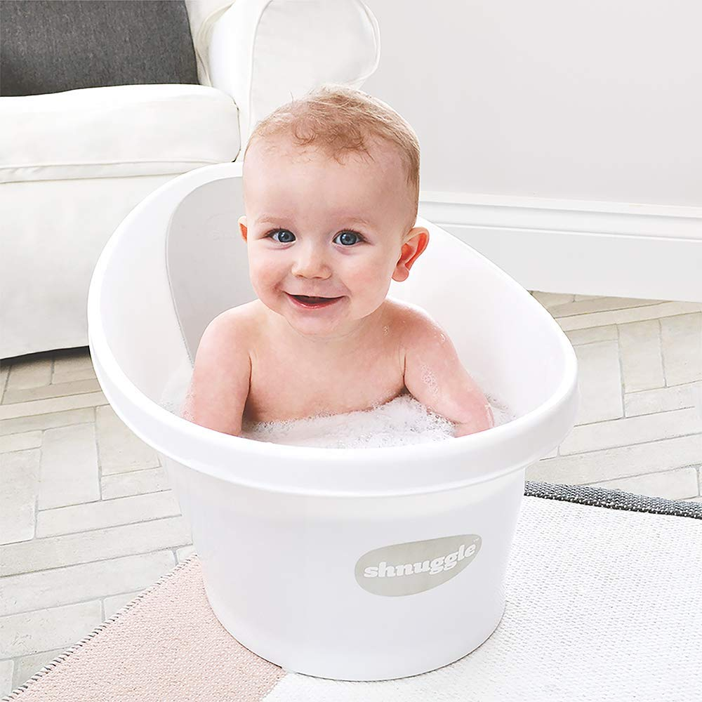 Amazon com shnuggle baby bath tub compact support seat for newborns wash infants and make bath time easy 0 12m grey baby