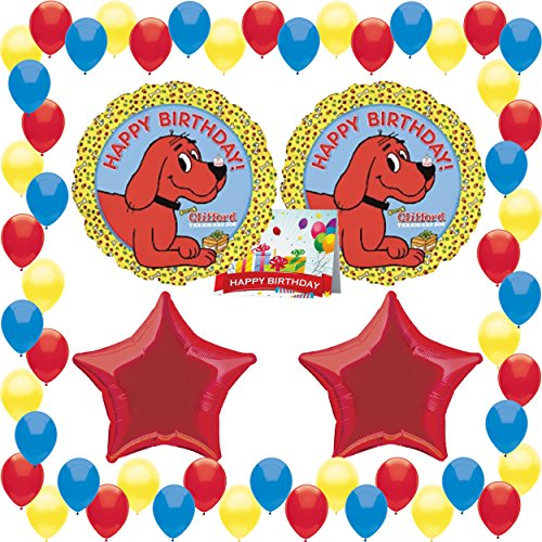 Clifford The Big Red Dog Party Supplies Birthday Balloon Bundle Clifford The Big Red Dog Birthday Party