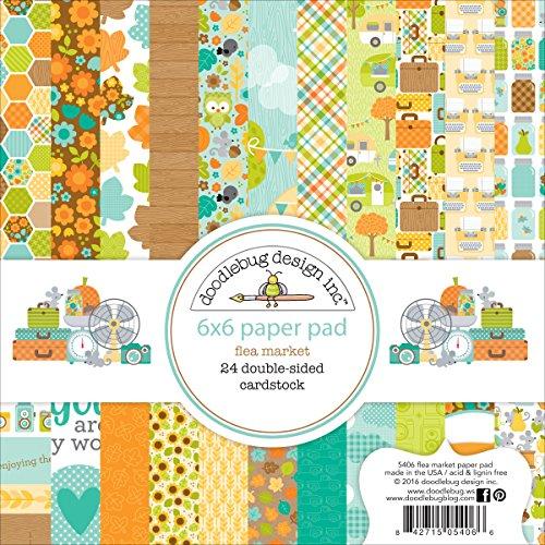 doodlebug-double-sided-paper-pad-6x6-24-pkg-flea-market-12-designs-2-each