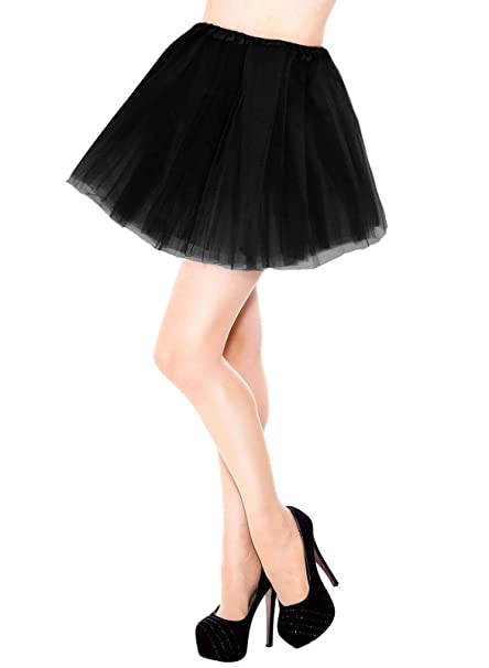 women's 3 layers black tulle tutu skirt at  women's clothing ...