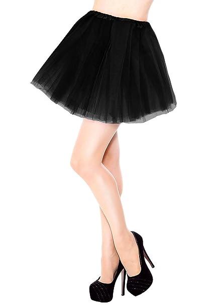 37cd0838cf Women's 3 Layers Black Tulle Tutu Skirt at Amazon Women's Clothing ...