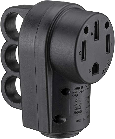 Miady 50AMP RV Replacement Male Plug with Easy Unplug Design
