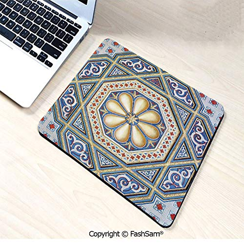 (Non-Slip Rubber Mouse Pads an Image of a Beautiful Moorish Carving Art Flower Doorway Entrance Geometric Decorative for Computers Laptop)