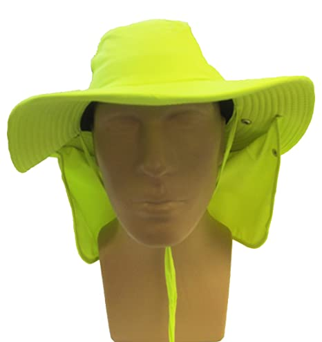 d2178334 OccuNomix Tuff & Dry Wicking & Cooling Hi Viz Yellow Ranger Hat with Neck  Shade - XLarge - TD500-HVY-XL at Amazon Men's Clothing store: