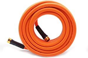 YGJT Garden Water Hoses 25 FT - 5/8 in, Durable Hybrid Polymer Flexible Water Pipe, Heavy Duty, for Gardening Watering and Washing