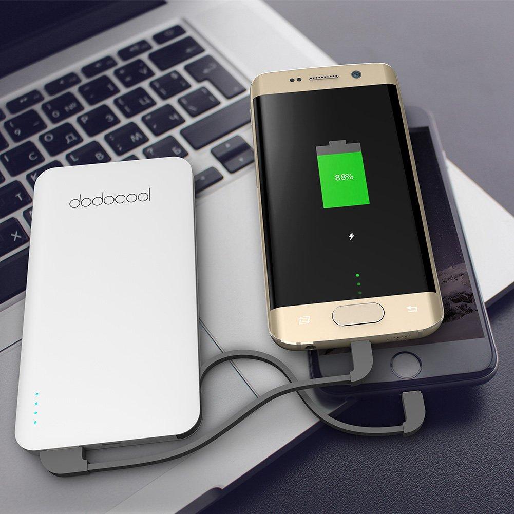 dodocool モバイルバッテリー? 充電器?極薄 大容量 USB2ポート5000mAh?iPhone?Samsung?LG??などスマホ用
