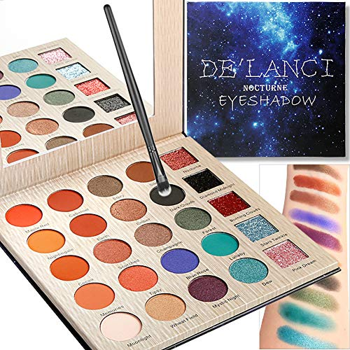 Eyeshadow Palette START MAKERS Professional Makeup Nude Earth Tone Matte Shimmer Pressed Glitter 25 Colors Highly Pigmented Long Lasting Waterproof Cosmetics with 1 Pcs Eyeshadow Brush