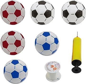 LUOEM Balones de fútbol Inflable de la Pelota de Playa del fútbol ...