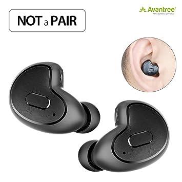 2 Mini Auricular Bluetooth (utlizar uno cada vez) para Motocicleta GPS, Podcasts, Libros de Audio, GPS, Música, Invisibles Pequeña Auriculares Inalámbricos ...