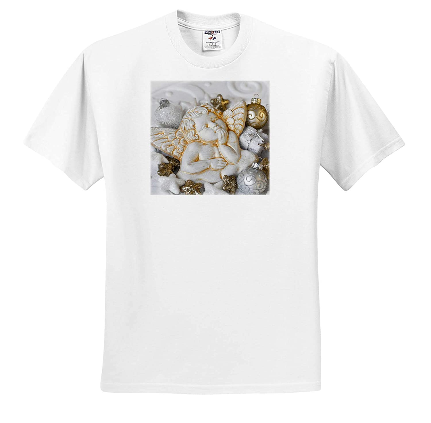Christmas Ornaments with White Cherub Photography 3dRose Andrea Haase Christmas Photography ts/_318595 Adult T-Shirt XL