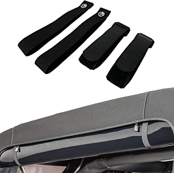 Amazon Com Bupp Rear Window Straps For Jeep Wrangler Jk Jku Soft