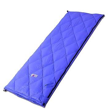 Adultos al aire libre sacos de dormir de plumas sobre la luz de la siesta de espesor cálido de la primavera y camping: Amazon.es: Deportes y aire libre