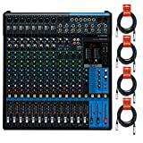 Yamaha MG16XU 16-Input 6-Bus Mixer with Effects w/ Cables