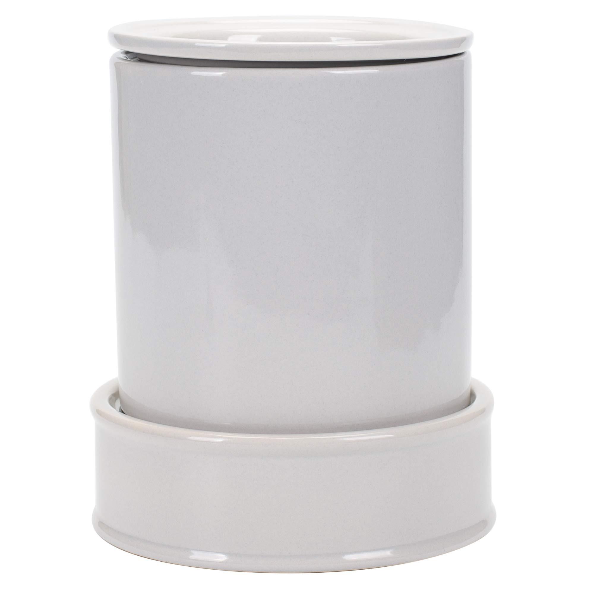 Grey Ceramic Stoneware Electric Hot Cold 3 Piece Serving Duo Dipper Warming Pot Dish Set