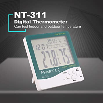Gugutogo ProsKit Nt-311 Termómetro digital Higrómetro Temperatura Humedad Medidor Verde