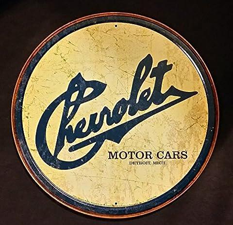 Chevy Historic Logo Tin Sign 12 x 12in (Corvette Logo Sign)