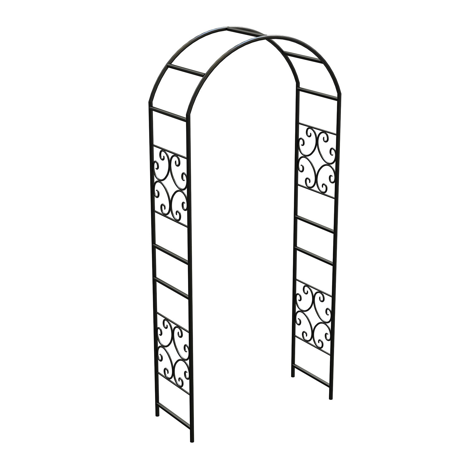 Panacea Scroll Arbor Without Gate, 90 , Black