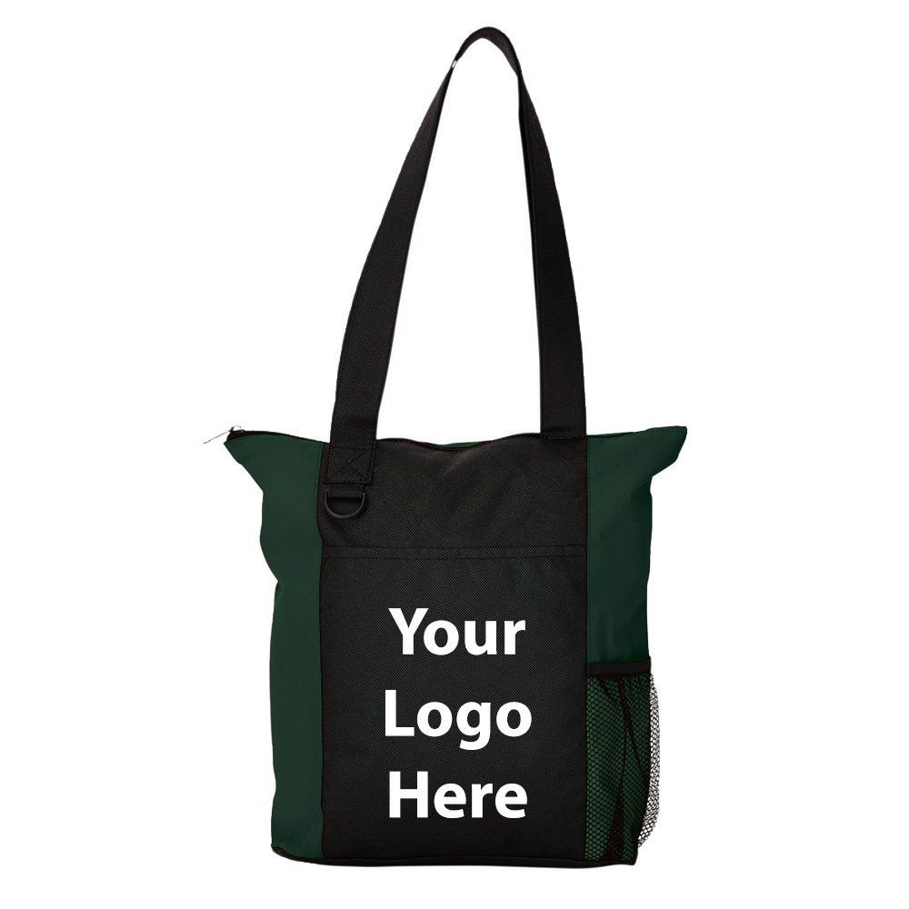 Beyond Zippered Business Tote - 125 Quantity - $3.35 Each - PROMOTIONAL PRODUCT / BULK / BRANDED with YOUR LOGO / CUSTOMIZED