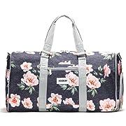 Vooray Trepic 21  Weekender Duffel Bag with Shoe Pocket, Rose Floral Navy