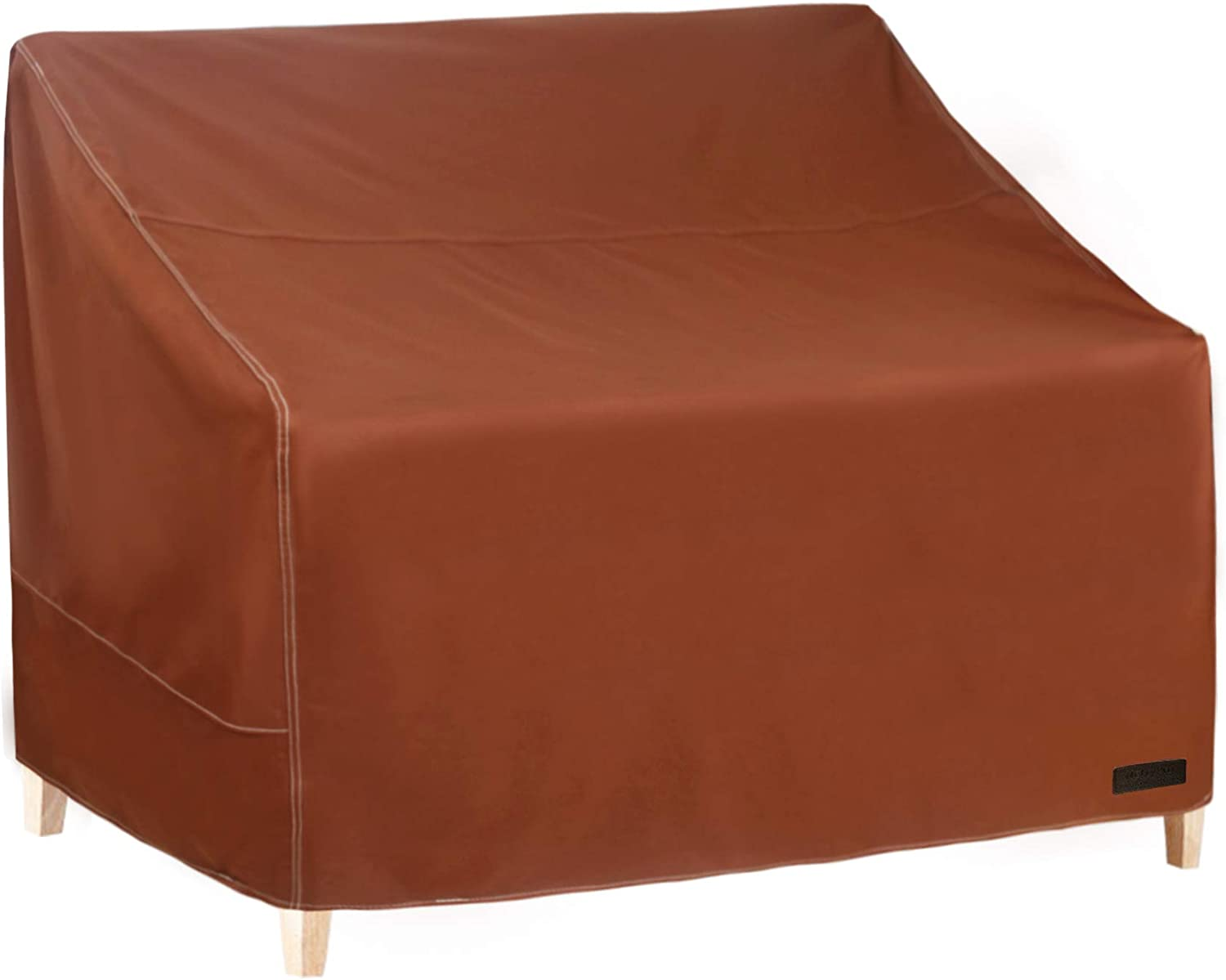 NettyPro Outdoor Loveseat Sofa Cover 2 Seater, 600D Heavy Duty Waterproof Patio Furniture Bench Cover, 58