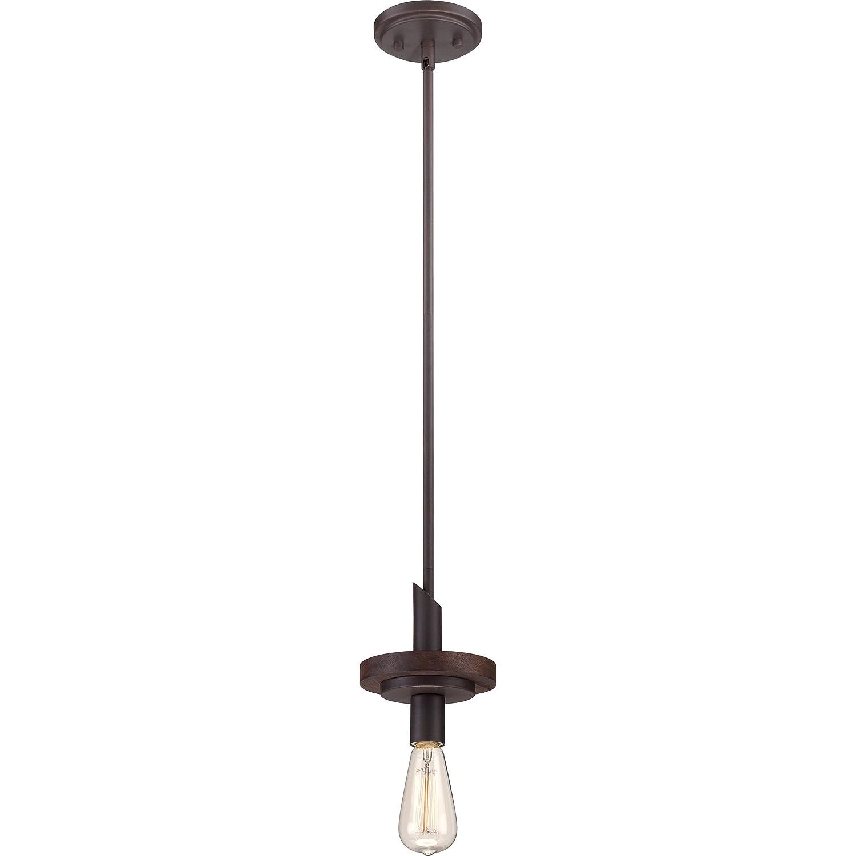 Quoizel TVN1506DK Tavern with Darkest Bronze Finish Rod Hung Mini Pendant