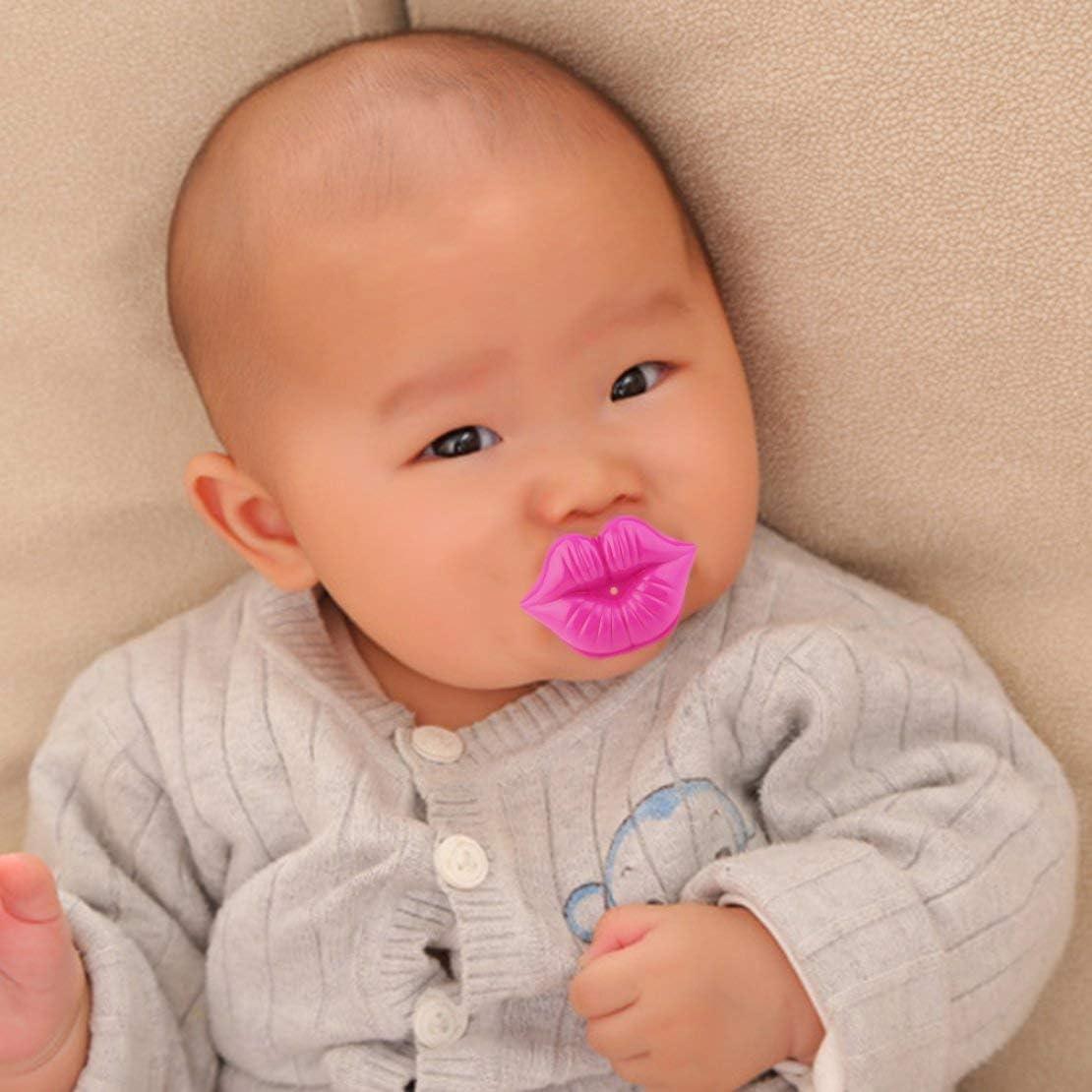 Estilo de beso chupete niños seguro pezón bebé portátil chupete divertido chupete fortalecer las encías del bebé de silicona juguetes infantiles: Amazon.es: Bebé