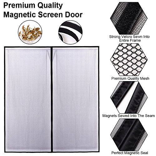 Magnetic screen door for french doors sliding glass doors for French door magnetic screen