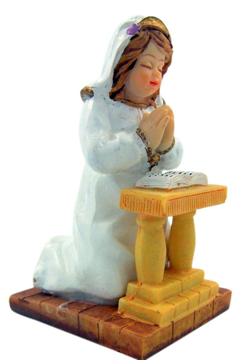 3 1//4 Inch First Communion Praying Boy on Kneeler Figurine