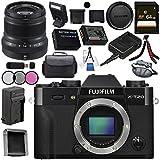 Fujifilm X-T20 Mirrorless Digital Camera (Black) 16542490 XF 50mm f/2 R WR Lens (Black) 16536611 Bundle