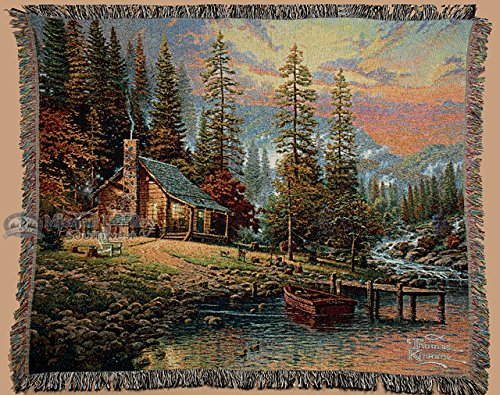 Woven Thomas Kinkade Throw Blanket