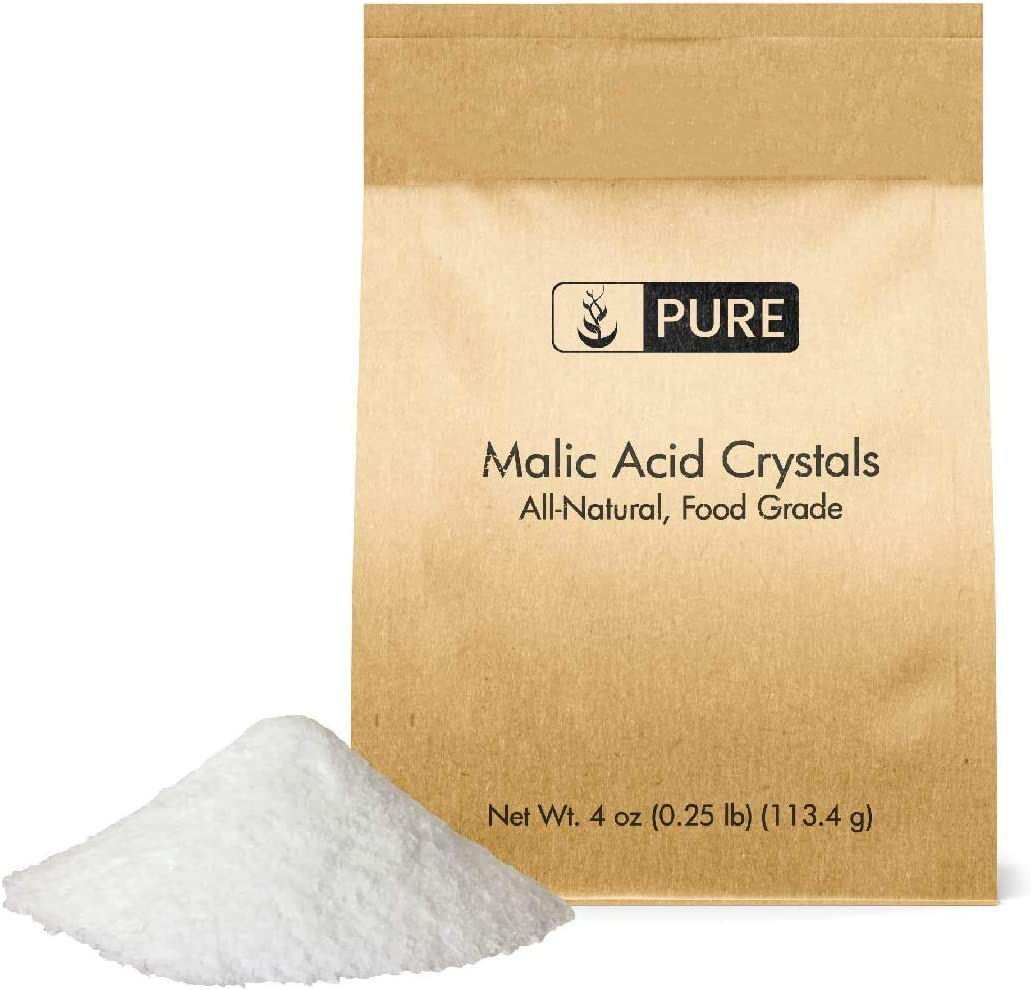 Pure Malic Acid Powder (4 oz) 600 mg Serving of Energy Boosting Support, May Help with Muscle Performance & Soreness*