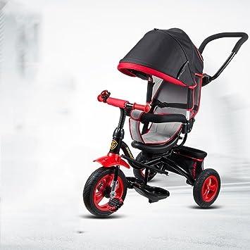 DACHUI Bebé, Bicicleta, Moto, Carrito bebé 1-5 años de Edad, niños en Bicicleta Triciclo (Color : Negro): Amazon.es: Deportes y aire libre