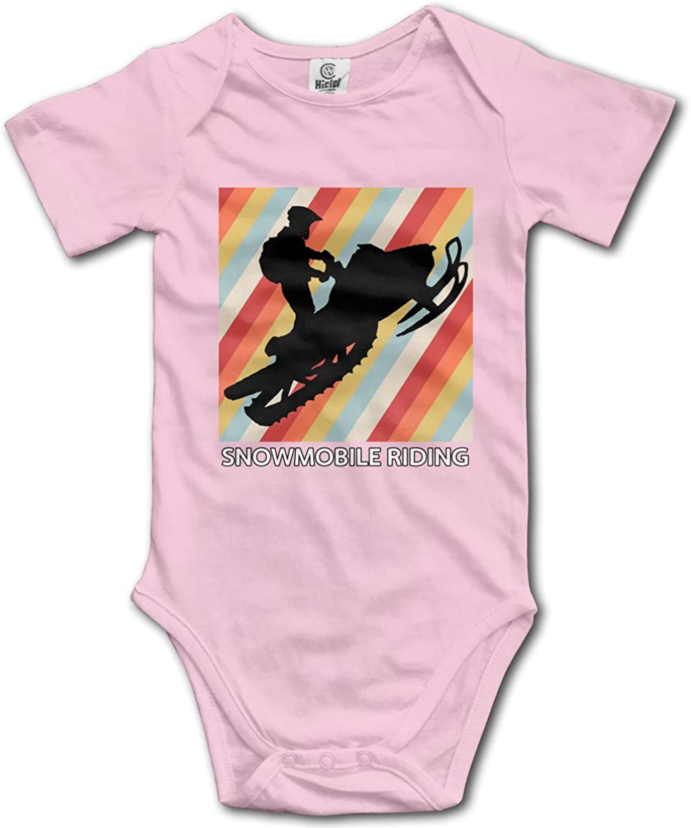 Id Rather Be Snowmobile Rider Silhouette 1 Printed Newborn Baby Boy Girl Jumpsuit Long Sleeve Outfits Black