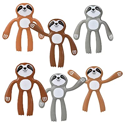 Assorted Sloth Bendables Party Pack - Party Supply Set for Favor Bags or Prize Totes - 12 Piece Set: Toys & Games