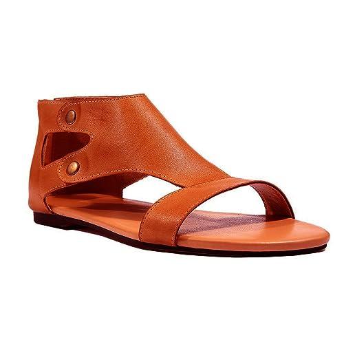 Minetom Sandali Donna Shoes Eleganti Estivi Tacco Basso Peep Toe Scarpe  Spiaggia Casuale Retrò Romani Sandals  Amazon.it  Scarpe e borse 6f2a4a745c5