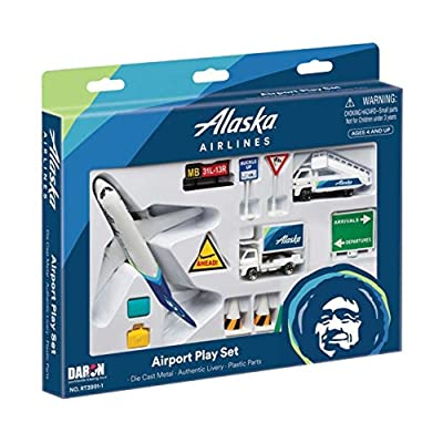 Daron Alaska Airlines Airport Play Set: Toys & Games