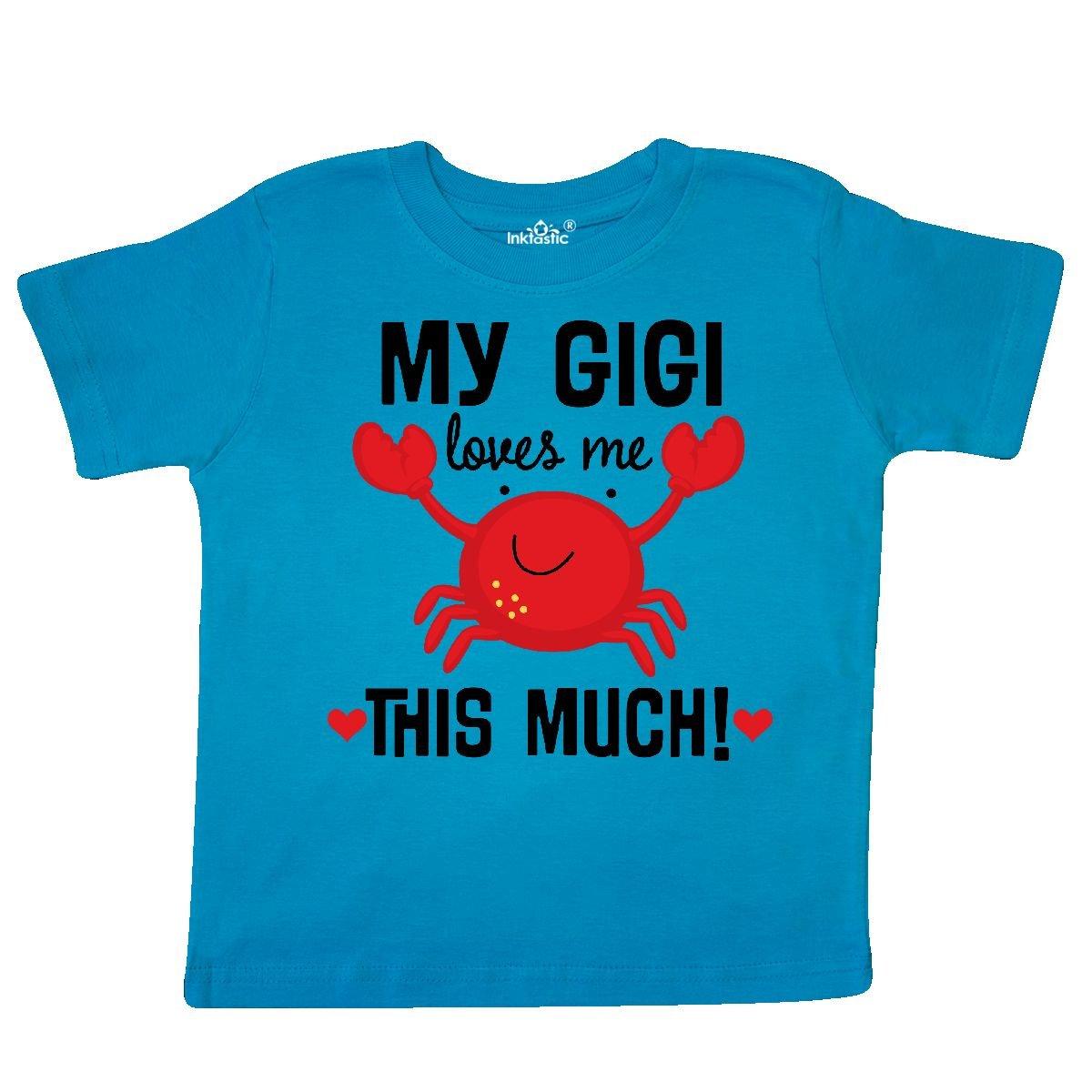 inktastic - My Gigi Loves Me Grandkids Toddler T-Shirt 2T Turquoise 2e7d7