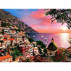 TSlook Poster Print on Canvas wall decorations Positano - Art 24x36 inches Unframed