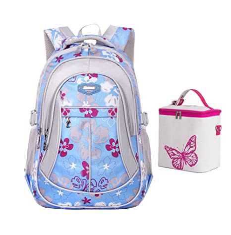 Amazon.com: Tonlen Kids Colorful Book Bag School Backpack and Lunch ...