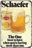 1975 Schaefer Beer Vintage Look Reproduction Metal Sign 8 x 12 8120113