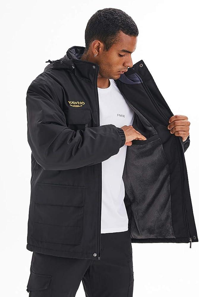 Unisex Inner Fleece Waterproof Hooded Jacket Outdoor Hiking Skiing Jackets GN