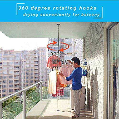 Baoyouni 4 Layer Floor To Ceiling Adjustable Corner Coat