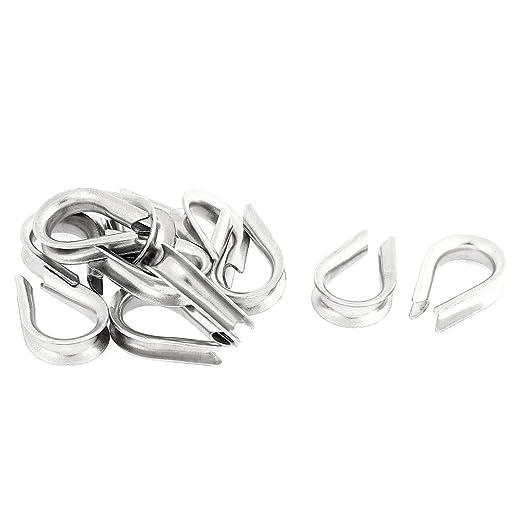 Aexit Acero inoxidable 4 mm Cable de cable estándar Dedales ...